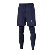 Evo Embossed Layered - Shorts - marineblau