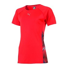Girl act train - T-shirt - rood en zilver