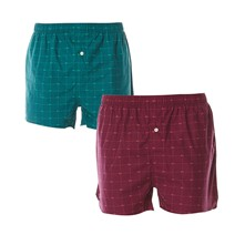 Signature Print - Lotto di due boxer - verde