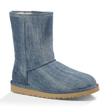 Classic Short Washed denim - Boots - blau