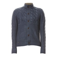 Strickjacke - marineblau