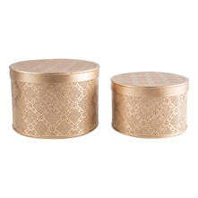 Set de 2 cajas decorativas - cobrizo