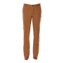 Bic washed slim tapered stretch - Pantaloni chino - tabacco