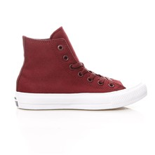 CHUCK TAYLOR ALL STAR II HI BORDEAUX/WHITE - Zapatillas de caña alta - lycra