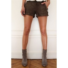 Bambou - Mini short in pelle - marrone