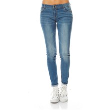 Jeans slim - washed blauw