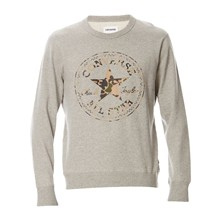 C75 CP GRAPHIC CREW VINTAGE GREY HEATHER - Felpa - grigio chiné