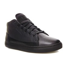 The Mid Mono - Sneakers alte in pelle - nero