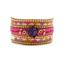 PURPLERAIN - Pulsera con perlas - indian pink