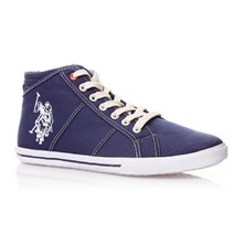 High Sneakers - marineblau