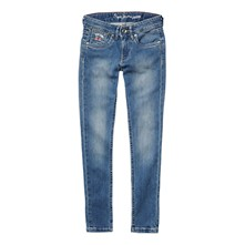pau - Jean slim - denim azul