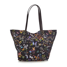Eden - Shopping bag con finiture in pelle - multicolore
