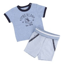 Set T-shirt en short - blauw