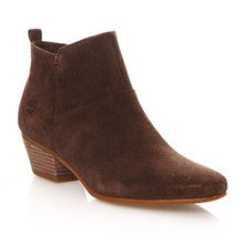 Carleton Side Zip An - Botines de ante - chocolate