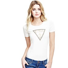 Guess Triangle - T-shirt - wit