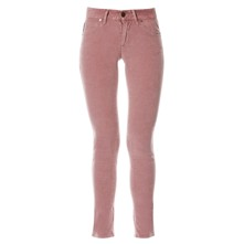 Pantalon 7/8 en velours côtelé - rose