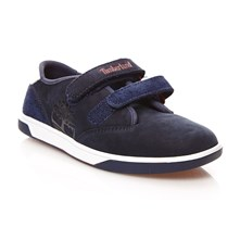 Sneakers con inserti in pelle - blu scuro