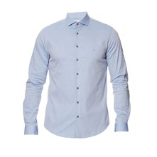 Camisa slim fit - azul