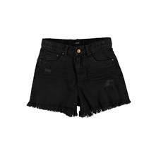 Mini short - zwart denim