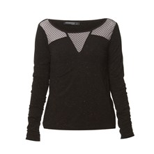 Top de brillo - negro