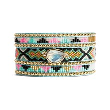 Amy twin - Bracciale con perle - multicolore