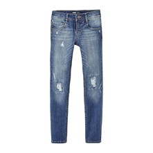 Jeans skinny - washed blauw