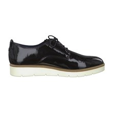 Derbies en cuir - denim noir