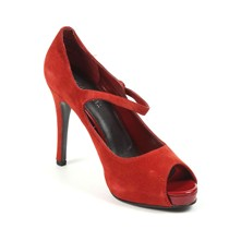Luminous - Pumps aus Leder - rot