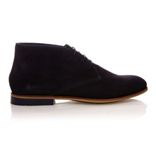 CAMPBELL - Derby in pelle - blu scuro