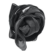 CollFlowerSilkS - Foulard in seta - nero