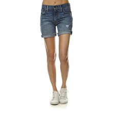 505C - Short - Short - denim bleu