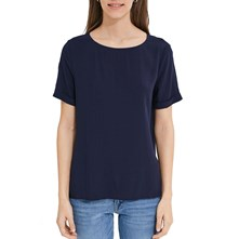 Top - marineblauw