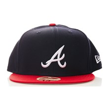 59Fifty Braves - Pet - donkerblauw