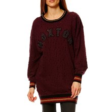 HOXTONITE - Lang sweatshirt - bordeaux