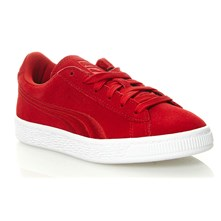 Suede - Sneakers aus Chamoisleder - rot