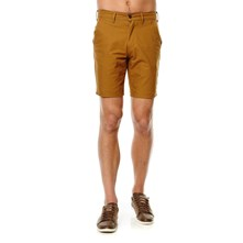 Straight Chino Short - Bermudas - ockerfarben