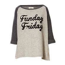 Friday - Sweat-shirt bi-matière - gris