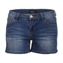 Short - washed blauw