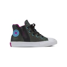 CHUCK TAYLOR ALL STAR SPORT ZIP HI ALMOST BLACK/MAGENTA - High Sneakers - schwarz