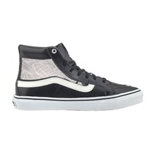SK8-Hi Slim Cutout - High Sneakers aus Leder - schwarz