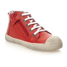 High Sneakers aus Leder - rot