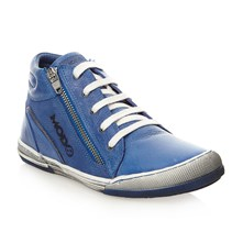 Sneakers alte in pelle - blu
