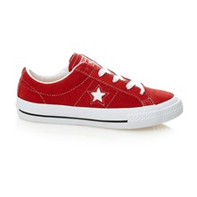ONE STAR OX RED/WHITE/GUM - Sneakers aus Chamoisleder - rot