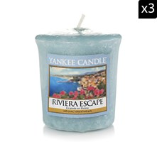 Escapade sur la Riviera - Lot de 3 votives parfumées - bleu