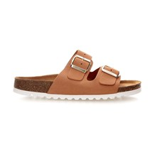 VMJULIA LEATHER SANDAL - Sandalias de ante - marrón