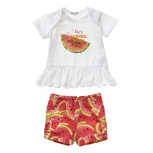Set T-shirt en short - meerkleurig