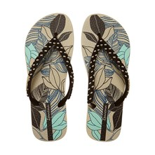 Fashion - Teenslippers - zand / violline