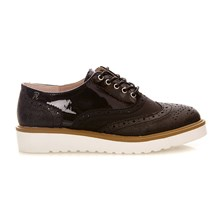SHOE LADY METALLIC BLACK . - Derbies - noir