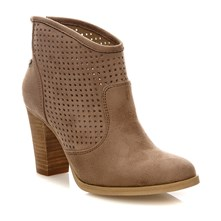 BOTÍN LADY MICROFIBER TAUPE . - Boots - taupe