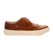 Costello Washed Tan - Leren derbies - washed blauw